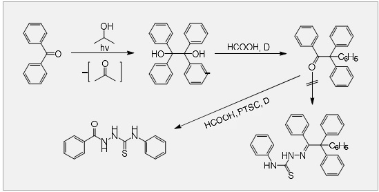 Anomalous reactivity of benzopinacolone towards 4-phenylthiosemicarbazide, a nucleophile endowed with alpha-effect