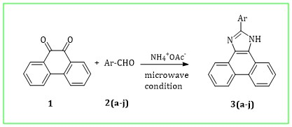 Microwave-assisted synthesis of phenanthro[9, 10-d]imidazole derivatives under solvent-free and one pot conditions