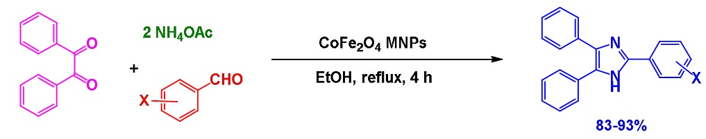 Magnetic Nano Cobalt Ferrite: An efficient recoverable catalyst for synthesis of 2,4,5-trisubstituted imidazoles