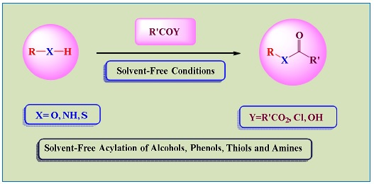 Solvent-Free Acylation of Alcohols, Phenols, Thiols and Amines